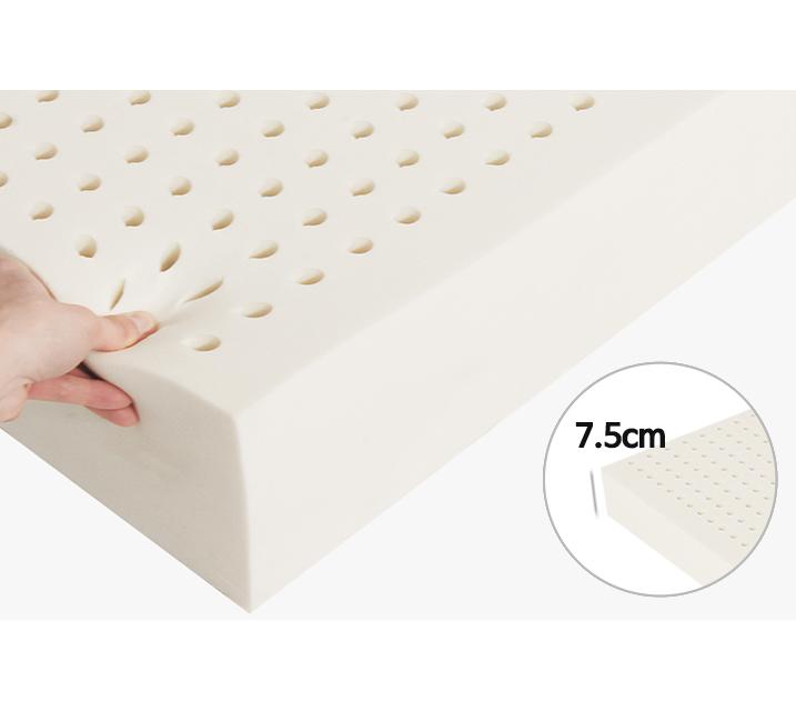 타이노블 100% 천연라텍스 매트리스 7.5cm 싱글(S)