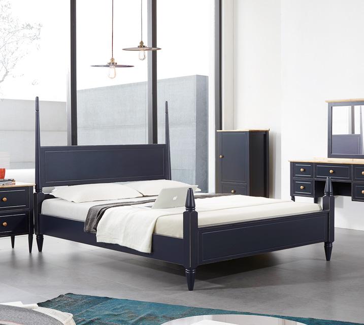 [렌탈]벨리제 고무나무 원목 침대 퀸(Q)/ 월 35,800원