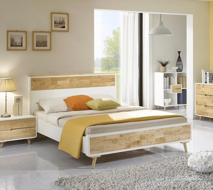 [렌탈]셀린시리즈 고무나무 침대 퀸(Q) / 월 35,800원