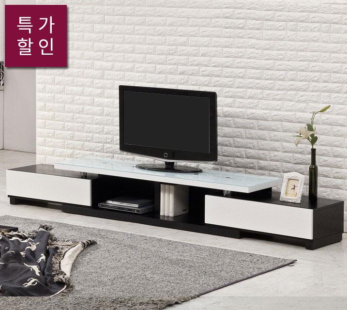 [렌탈]샤인 1600-2800 확장형글라스거실장/ 월15,800원