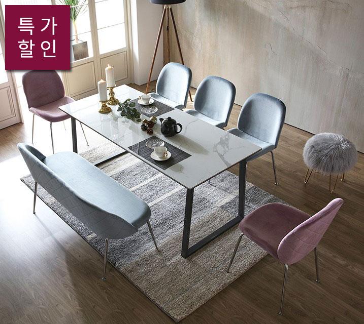 [렌탈] 서퍼 세라믹 식탁 세트/월 33,800원