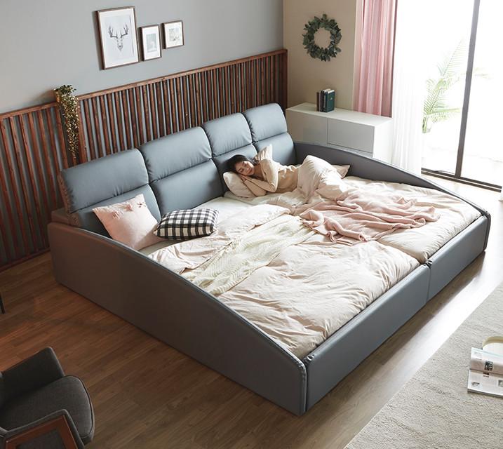 휴버트 친환경 PU 패밀리 침대 [독립매트리스 포함 Q+SS]/ 월 103,800원