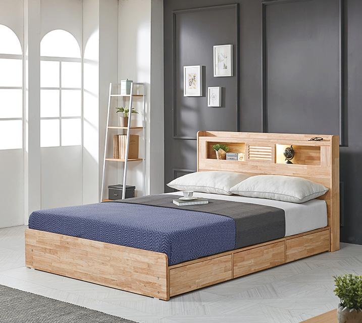 [렌탈] 알도 고무나무 침대 퀸 (Q) / 월 25,800원