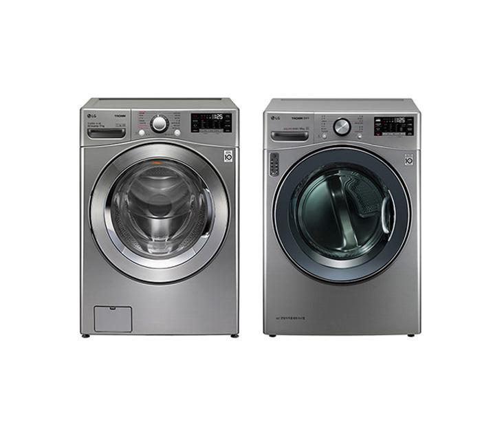 [L_렌탈] LG전자 트롬 세탁기+건조기 세트 F17VDAU(PKG) / 월73,900원