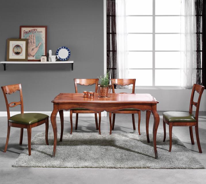 [렌탈] 쇼콜라 프렌치 빈티지 식탁 6인세트 (의자형 / 의자6ea) / 월 99,800원