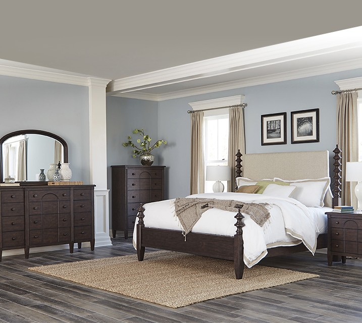 [렌탈] 969 Charleston Collection Poster Bedroom Q Set [침대프레임+화장대+거울+협탁] / 월 127,800원