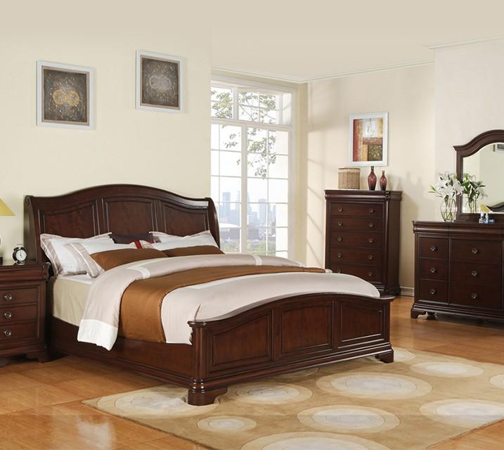 [렌탈] CM-750 Cameron Sleigh Bedroom Q Set [침대프레임+화장대+거울+협탁] / 월 77,800원