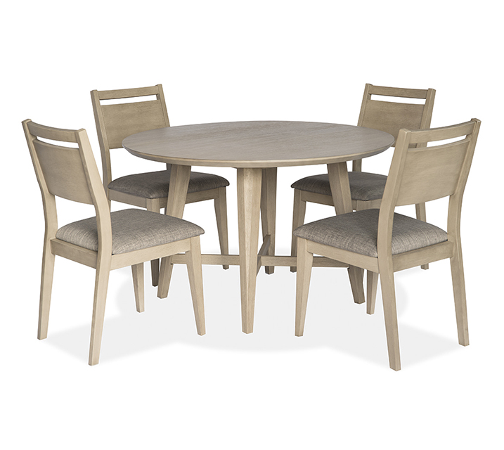 1183 라운드 4인 식탁세트 [테이블+의자 4개] - 오크 / 월 69,800원