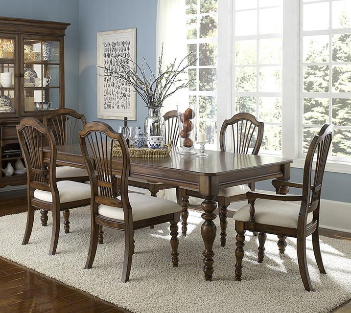 4860 파인 아이스랜드 컬렉션 6인 엔틱 식탁 세 [ 테이블 + 암체어 2개 + 사이드체어 4개 ] / 월 125,800원