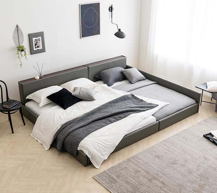 [렌탈] 데이지 패밀리 침대 [그레이] Q+SS+PVC 깔판 / 월 25,800원
