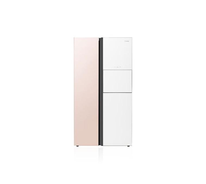 [S] 위니아대우 클라쎄 양문형 냉장고 718L 솔리드핑크/화이트 WKR71DSJPW / 월43,500원