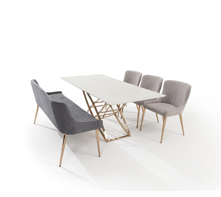 [L] 코다 세라믹 6인 식탁세트 (의자3ea, 벤치1ea) / 월 95,800원