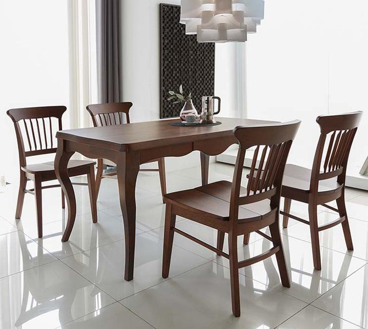 네치 4인용 원목 의자형 식탁세트(식탁 1ea, 의자 4ea) / 월 63,800원